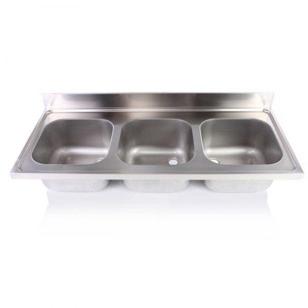 Three sink unit without legs 40x40x25 cm Sinks