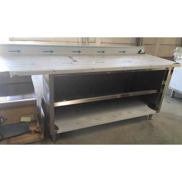 SILKO work bench with bottom + intermediate shelf Stainless steel tables