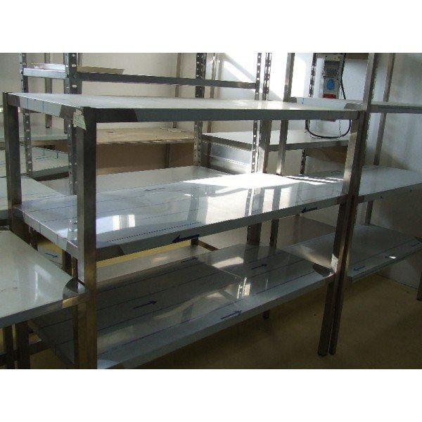 3 shelves made of stainless steel  Stainless steel shelves