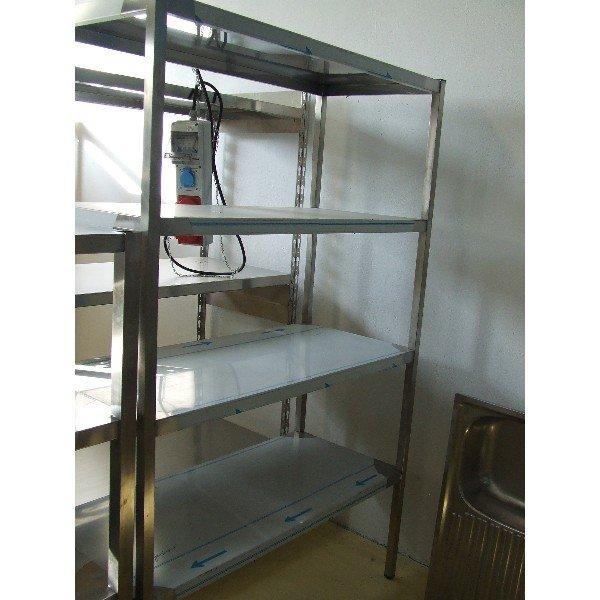 4 shelves made of stainless steel  Stainless steel shelves