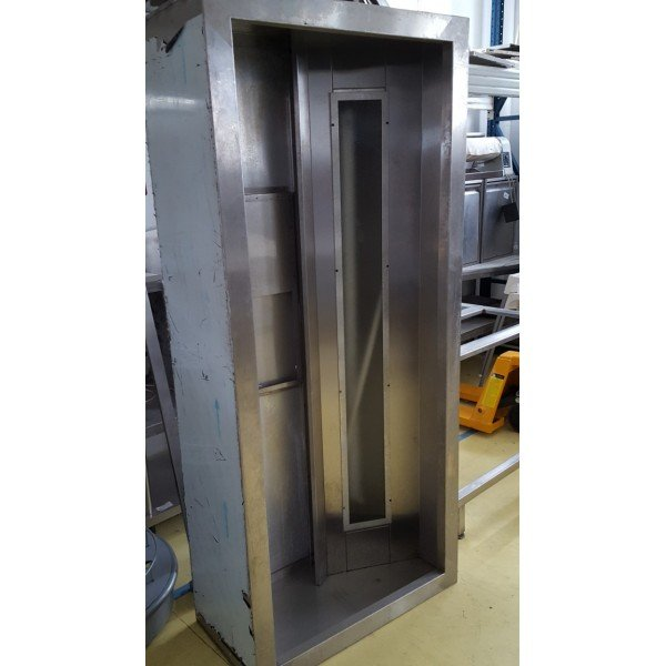 Front panel exhaust hood - 200x90x45 cm Stainless steel extraction hood