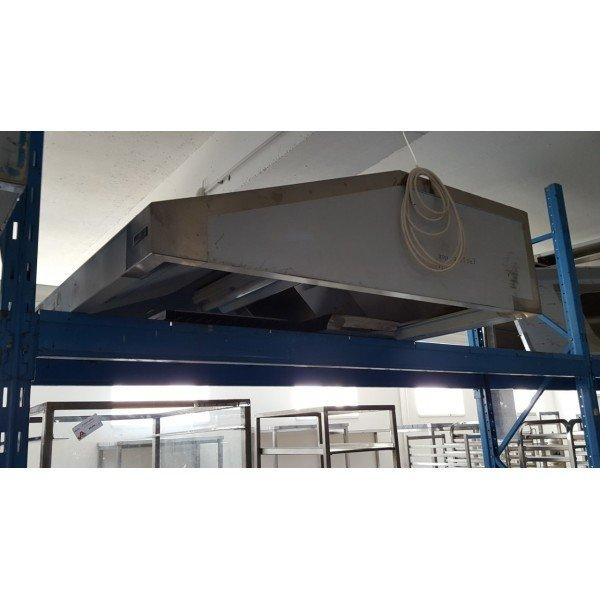 Wall-mounted exhaust hood - 150x130x35 cm Stainless steel extraction hood