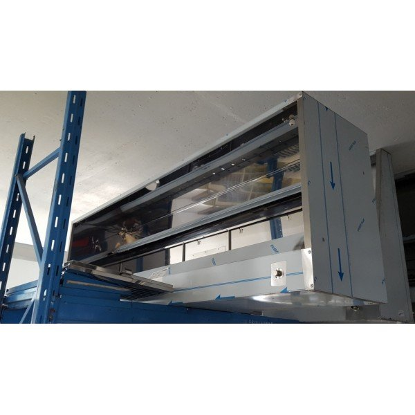 Front flap - 240x80x50 cm Stainless steel extraction hood