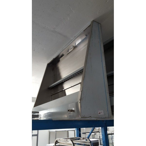 Wall snack extractor - 150x120x40 cm Stainless steel extraction hood