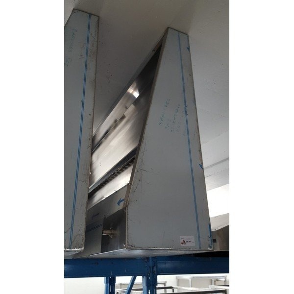 Wall snack extractor - 220x120x40 cm Stainless steel extraction hood