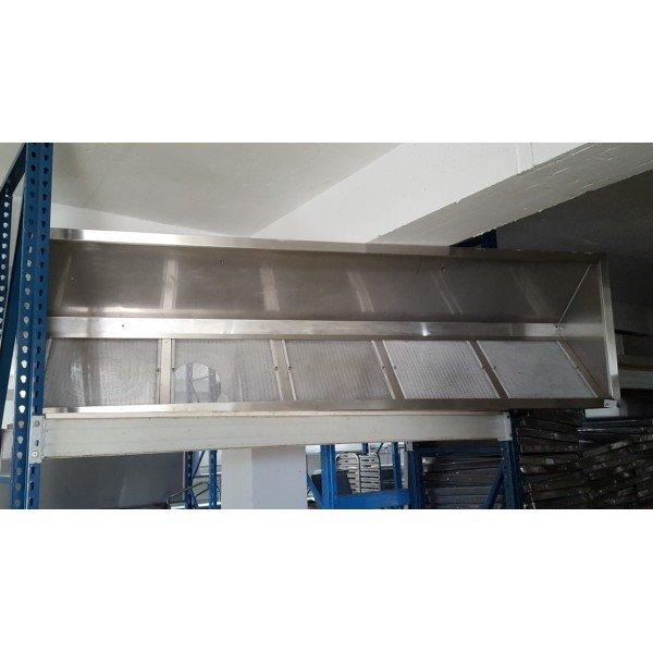 Wall panel exhaust hood - 280x80x45 cm Stainless steel extraction hood