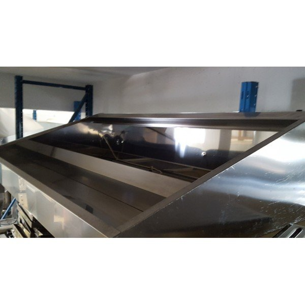 Wall snack suction hood - 200x110x45 cm Stainless steel extraction hood