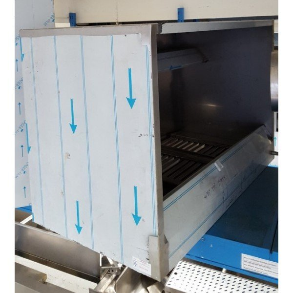 Front-panel hood, 113x75x60 cm Stainless steel extraction hood