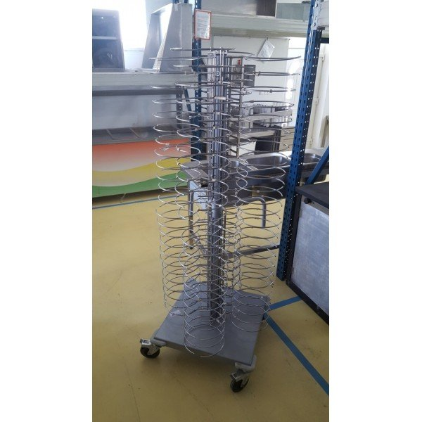 Rolling plate holders 96 Tray trolley