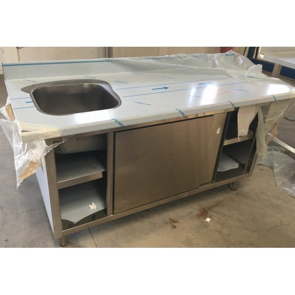 Sink cabinet with 40x40 basin with sliding door Cabinets