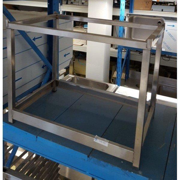 Stainless steel machine stand, 75x49 cm Machine stands