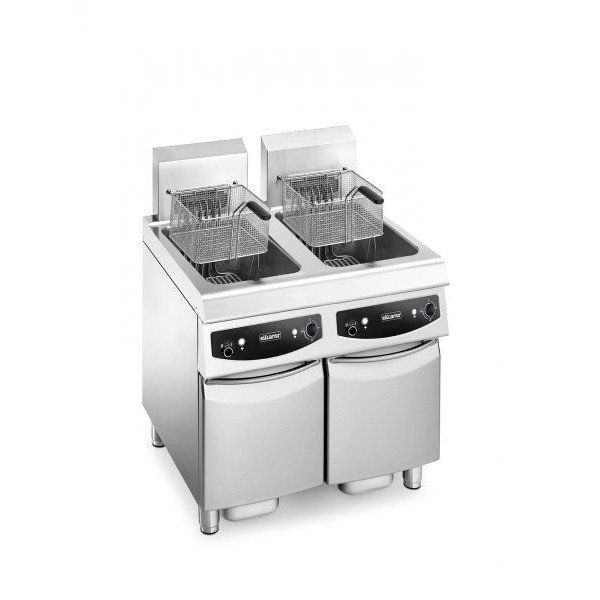 Elframo NE-M 200 + 200 - 2x20 liter electric fryer Deep fryer / Fryer