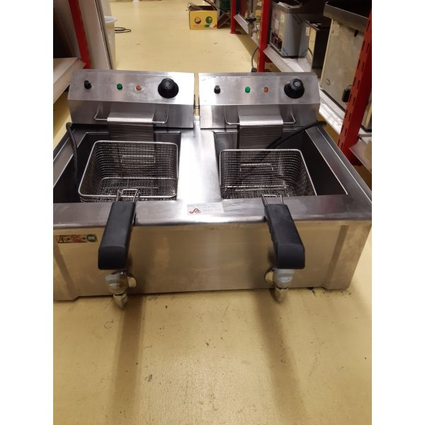 "Beckers FBR 13 + 13 LT ""13 + 13 liter electric fryer / fryer Deep fryer / Fryer"