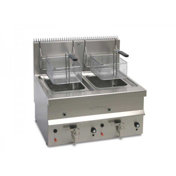 Elframo GBD10 2x10 liter gas table fryer Deep fryer / Fryer