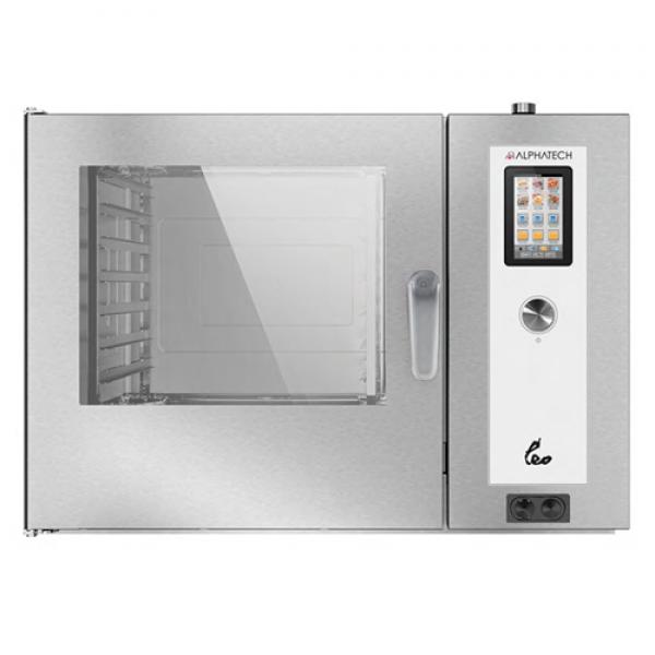 Alphatech ALVET072 7-bin combi oven, Touchscreen GN2 / 1 Combi streamer ovens