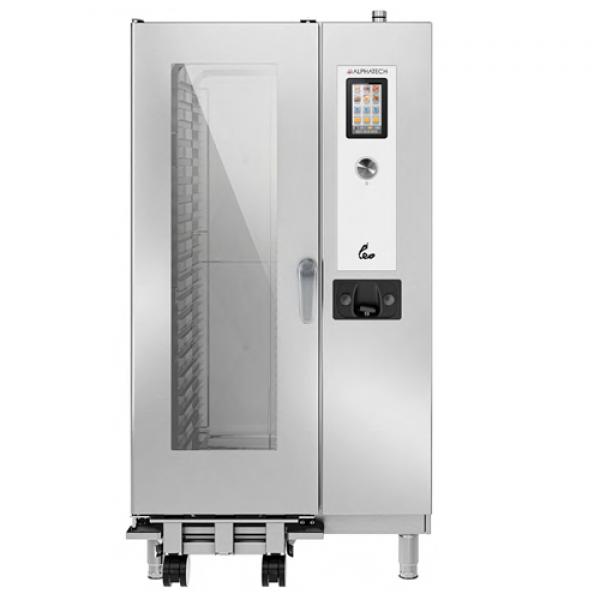 Alphatech ALVET201 20-bin combi oven, Touchscreen Combi streamer ovens