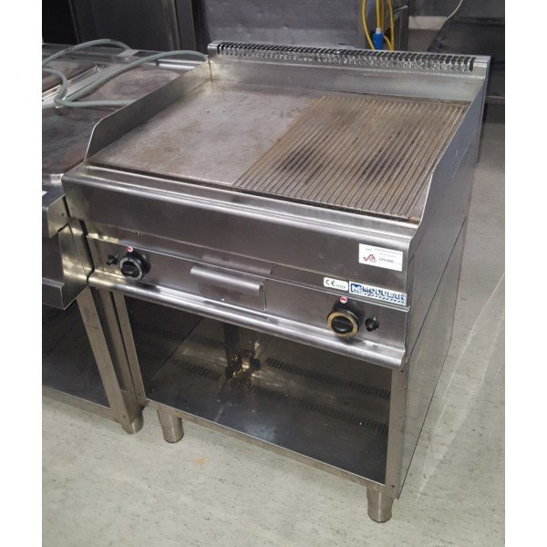 Gas-half ribbed half smooth fiber sheet / baking sheet / baking slices Griddle / Gridle plate
