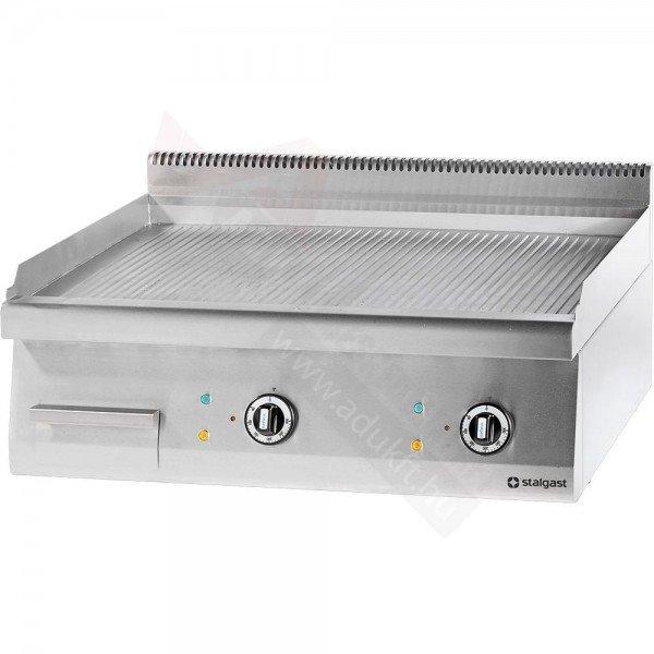 Stalgast electric sheet without underside - 800 ribbed Griddle / Gridle plate