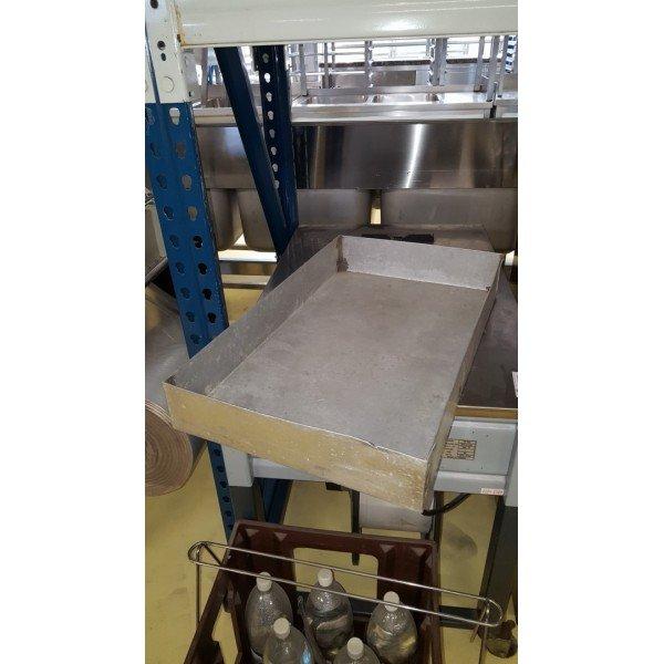 High-walled aluminum baking tray - large  Plates