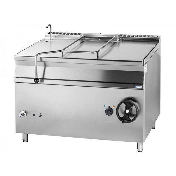 Gas powered trolley - 120 liter - Inox Tilting pan