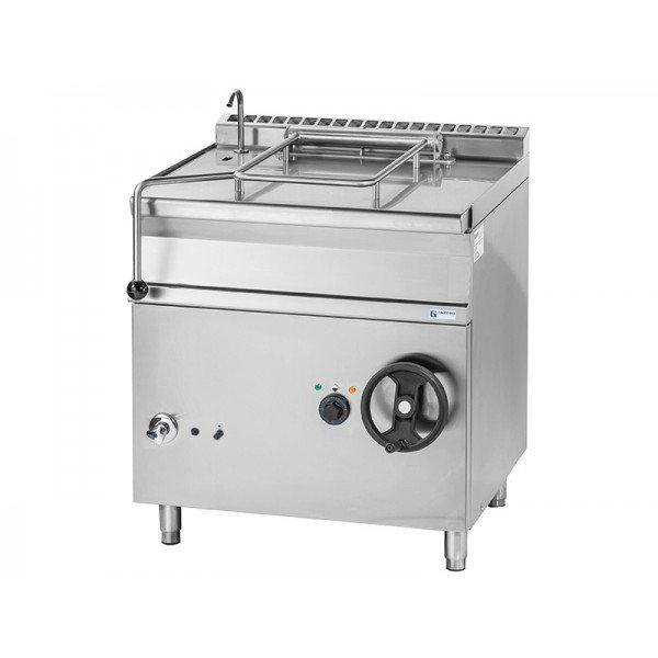 Gas powered trolley - 80 liter - Inox Tilting pan
