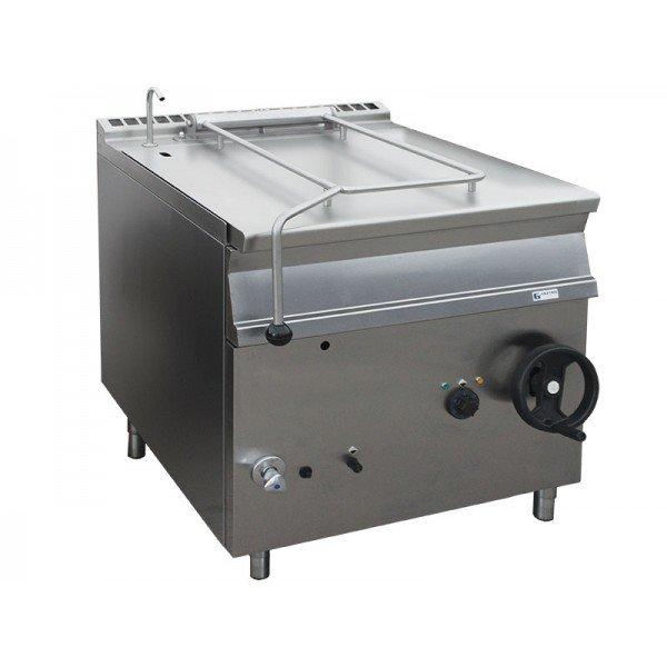 Gas powered trolley - 50 liter - Inox Tilting pan