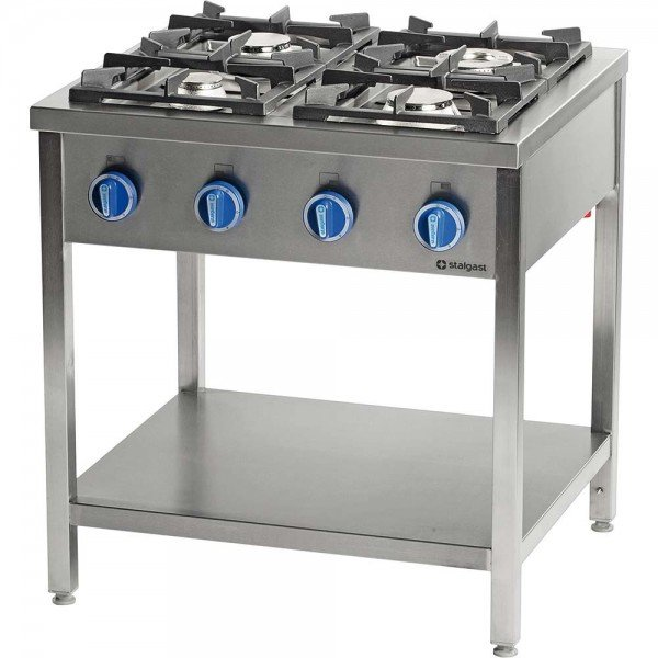 Stalgast 4 burner gas stove without oven - 700 series Cookers