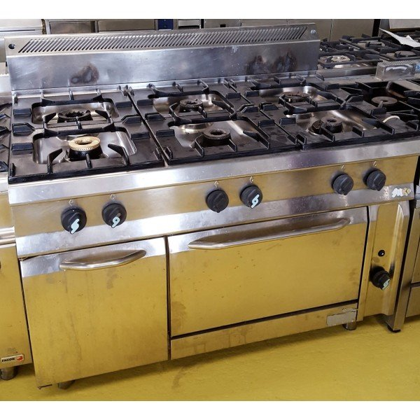 Silko 6 burner gas stove with gas oven Cookers