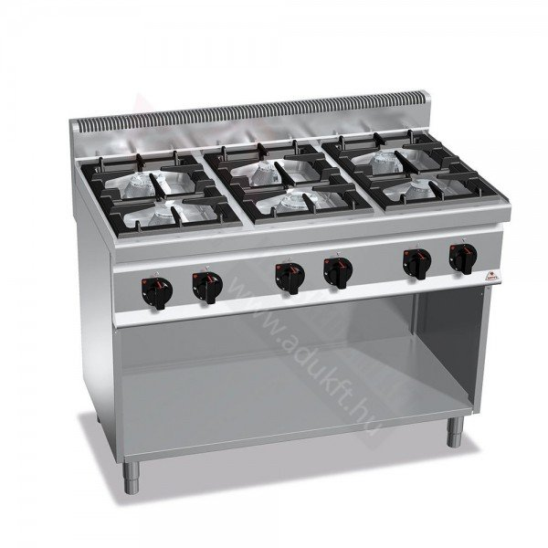 Berto's BG7F6M - 6 burner stove Cookers