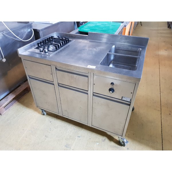 Mobile - 2 burner stove + 1xGN1 / 1 heater Cookers