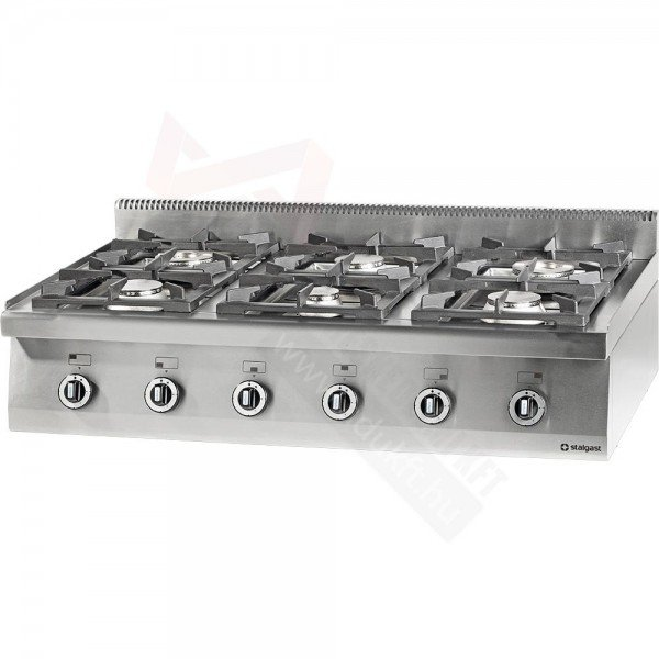 Stalgast 6 burner table gas stove without bottom Cookers