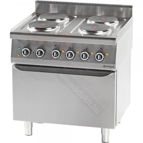 Stalgast 4 flat electric cooker with electric oven Cookers