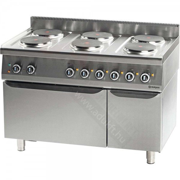Stalgast 6 flat electric cooker with electric oven Cookers