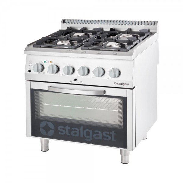 Stalgast 4 burner gas stove with electric oven GN 2/1 Cookers