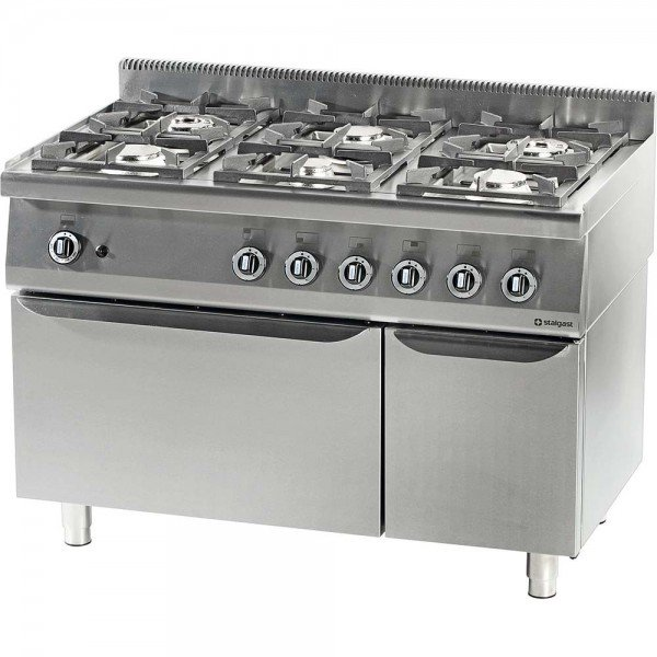 STALGAST six-burner gas stove, oven GN 2/1 Cookers