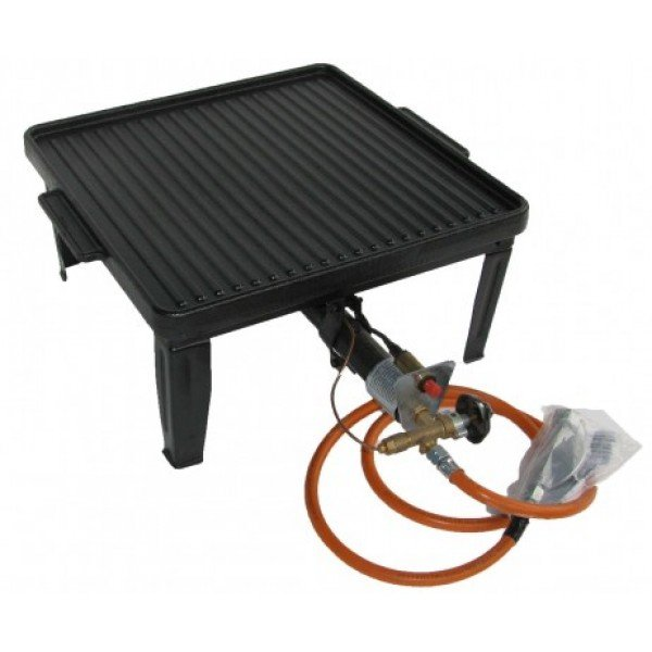 Four-legged stable gas stroke with 2-sided screen Griddle / Gridle plate
