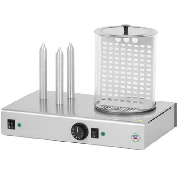 RM Gastro HD-03 N  Hot dog oven, three prickly, hot dog steamer roller Hot-Dog machines