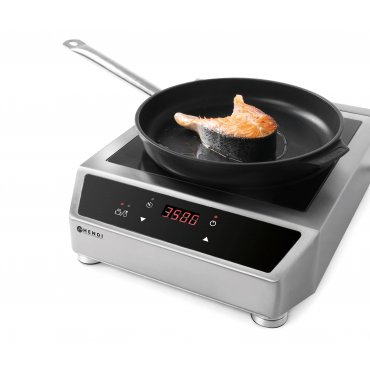Hendi induction hob with touch-sensitive digital control, 3500W Induction cooker