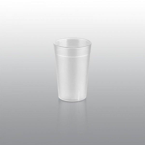 250 ml plastic cup, matt Catering