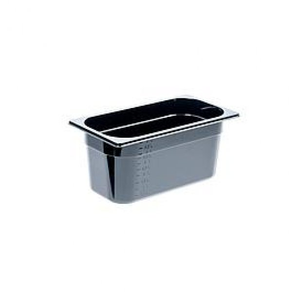 Black polycarbonate container GN 1/3 GN dishes