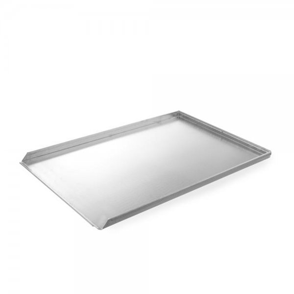 Aluminum sheet three-sided 600 x 400 GN dishes