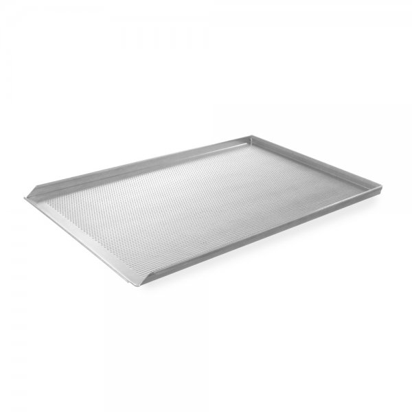 Aluminum sheet three-sided perforated 600 x 400 GN dishes