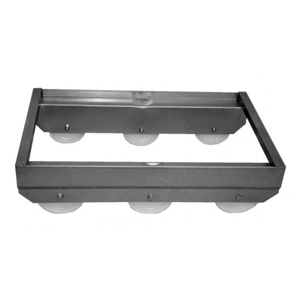 Stainless chicken carriage - 6 wheels Tray trolley