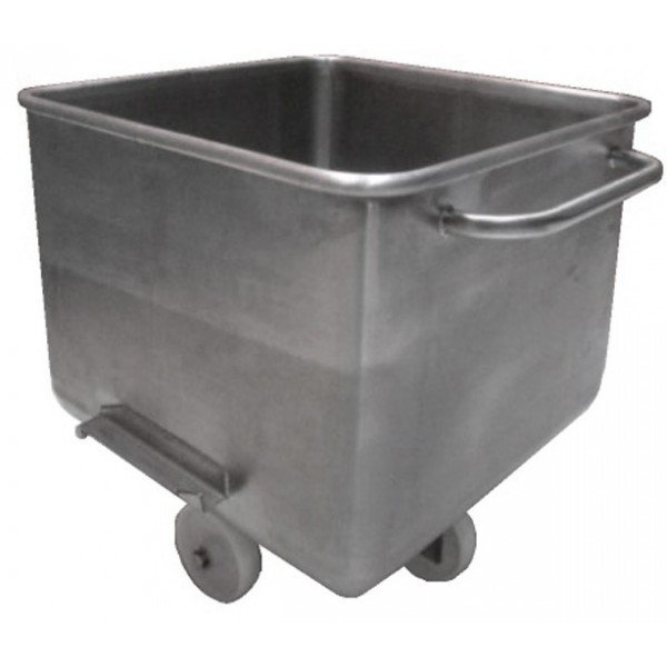 Stainless steel wagon - 200 L Tray trolley