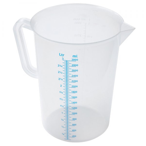 Transparent measuring container - 1 liter With Paulina's recommendation!